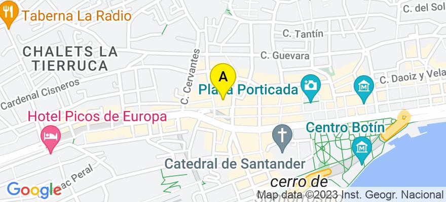 situacion en el mapa de . Direccion: Calle Alta 133, Bajo, Despacho Nº 4, 39008 Santander. Cantabria