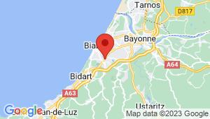 Carte de localisation du centre de contrôle technique BIARRITZ