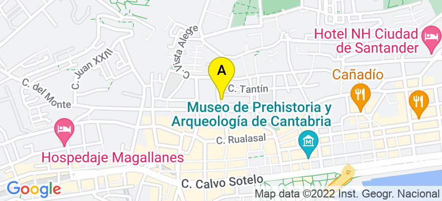 situacion en el mapa de . Direccion: Calle Atalaya nº 4, 38920 Santander. Cantabria