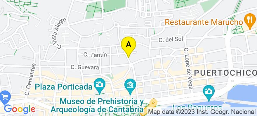 situacion en el mapa de . Direccion: c/ Río de la Pila, 2-A, entlo, 39003 Santander. Cantabria