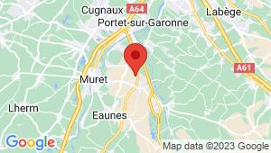 Carte de localisation du centre de contrôle technique Labarthe sur Leze