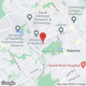 Map of Tim Hortons at 200 University Ave W, Waterloo, ON N2C 3G1