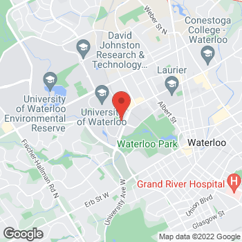 Map of Tim Hortons at 200 University Ave W, Waterloo, ON N2L 2G1