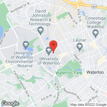 Map of Tim Hortons at 200 University Ave W, Waterloo, ON N2L 3G1
