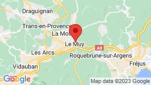 Carte de localisation du centre de contrôle technique LE MUY