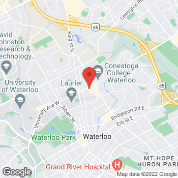 Map of Tim Hortons at 65 University Ave East, Waterloo, ON N2J 2V9
