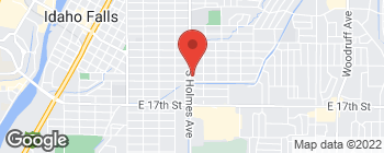 Map of 1335 S Holmes Ave in Idaho Falls