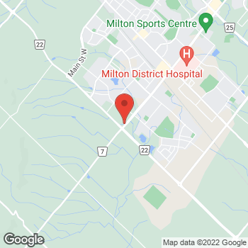 Map of Tim Hortons at 6005 Derry Road West, Milton, ON L9T 2X6