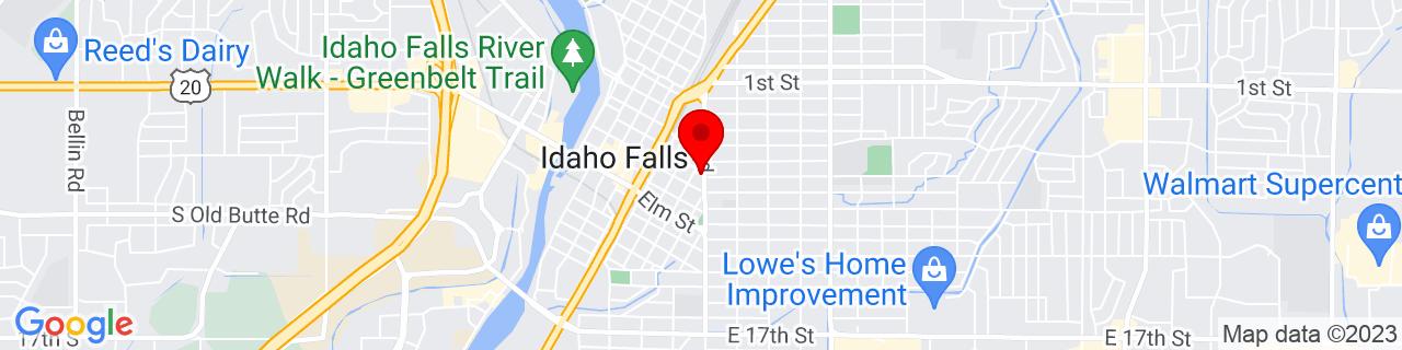 Google Map of 43.49165139999999, -112.0339645