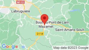 Carte de localisation du centre de contrôle technique MAZAMET