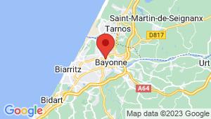 Carte de localisation du centre de contrôle technique BAYONNE