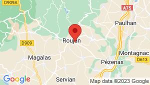 Carte de localisation du centre de contrôle technique ROUJAN