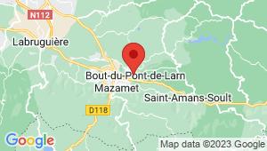 Carte de localisation du centre de contrôle technique Bout du Pont de l'Arn