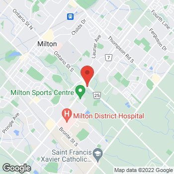 Map of Tim Hortons at 6788 Regional Rd 25, Milton, ON L9T 2X5