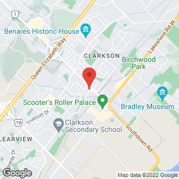 Map of Tim Hortons at 1212 Southdown Rd, Mississauga, ON L5J 2Y4