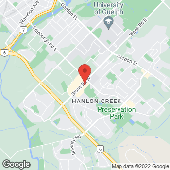Map of Tim Hortons at 304 Stone Rd, Guelph, ON N1G 3E1