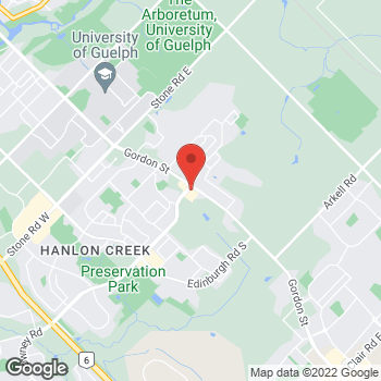 Map of Tim Hortons at Gordon St, Guelph, ON N1G 2W1