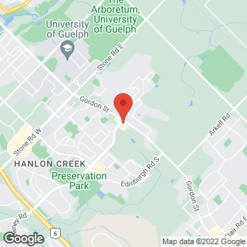 Map of Tim Hortons at 987 Gordon St, Guelph, ON N1G 4W3