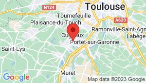Carte de localisation du centre de contrôle technique VILLENEUVE TOLOSANE