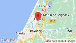 Carte de localisation du centre de contrôle technique BOUCAU