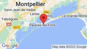 Carte de localisation du centre de contrôle technique PALAVAS LES FLOTS