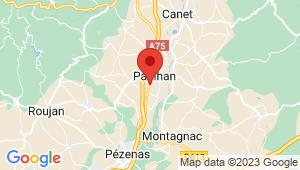 Carte de localisation du centre de contrôle technique PAULHAN