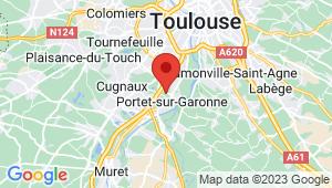 Carte de localisation du centre de contrôle technique PORTET SUR GARONNE