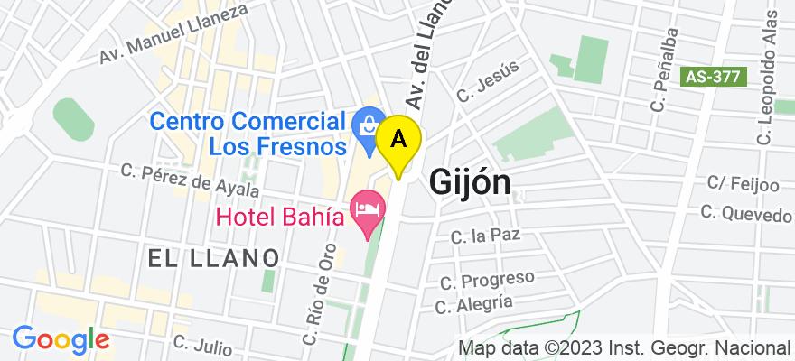 situacion en el mapa de . Direccion: C/ Moros, 37-3º derecha, 33206 Gijón. Asturias