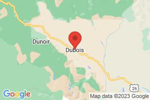 Map of Dubois