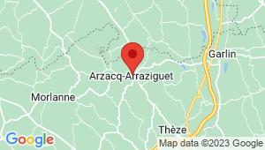 Carte de localisation du centre de contrôle technique ARZACQ ARRAZIGUET