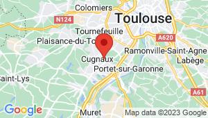 Carte de localisation du centre de contrôle technique CUGNAUX