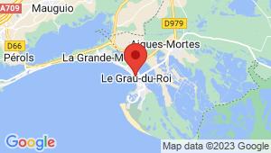Carte de localisation du centre de contrôle technique LE GRAU DU ROI