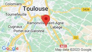 Carte de localisation du centre de contrôle technique Ramonville-saint-agne