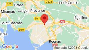 Carte de localisation du centre de contrôle technique LA FARE LES OLIVIERS