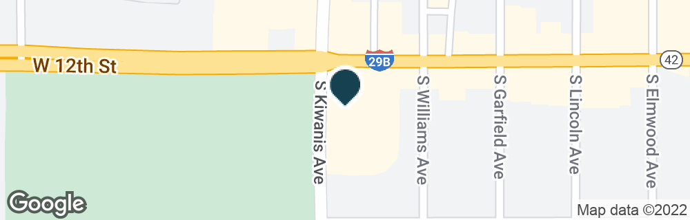 Google Map of2605 W 12TH ST