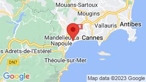 Carte de localisation du centre de contrôle technique CANNES LA BOCCA