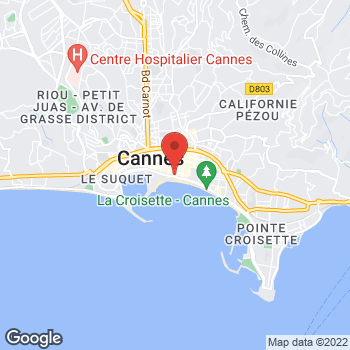 Map of FRED CANNES at 21 boulevard de la Croisette, Cannes,  06400