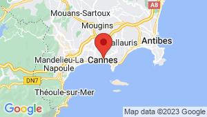 Carte de localisation du centre de contrôle technique CANNES