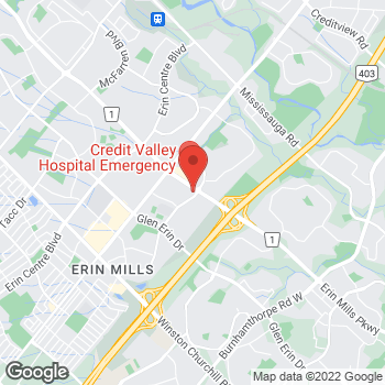 Map of Tim Hortons at 4530 Erin Mills Parkway, Mississauga, ON L5M 4L9