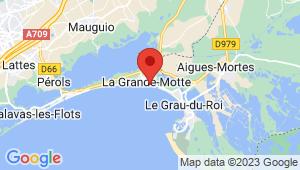 Carte de localisation du centre de contrôle technique LA GRANDE MOTTE