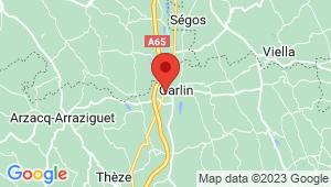 Carte de localisation du centre de contrôle technique GARLIN
