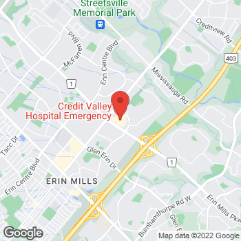 Map of Tim Hortons at 2200 Eglinton Ave, Mississauga, ON L5M 2N1