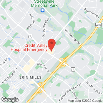 Map of Tim Hortons at 2220 Eglinton Ave, Mississauga, ON L5M 2N1