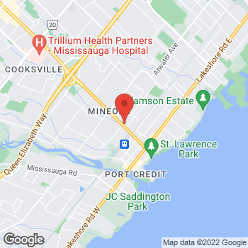 Map of Tim Hortons at 1211 Hurontario St, Mississauga, ON L5G 3H2