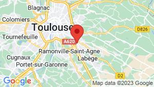 Carte de localisation du centre de contrôle technique TOULOUSE labége