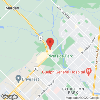 Map of Staples Print & Marketing Services at 20 Woodlawn Road East, Guelph, ON N1H 1G7