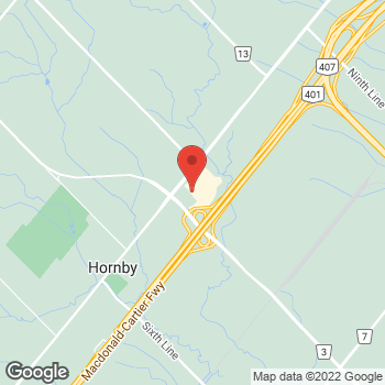 Map of GUESS Factory at 13850 Steels Ave, Halton Hills, ON L7G0J1