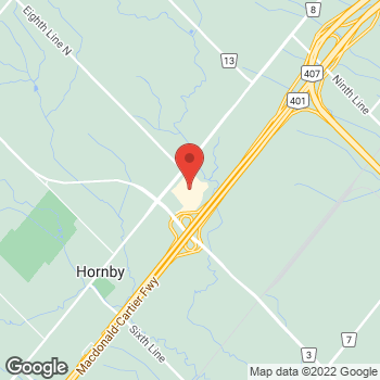Map of Oakley Vault at 13850 Steeles Ave W, Halton Hills, ON L7G0J1