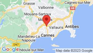 Carte de localisation du centre de contrôle technique LE CANNET