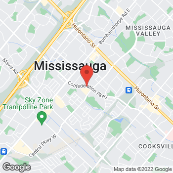Map of Tim Hortons at 3530 Confederation Pkw, Mississauga, ON L5B 3X9